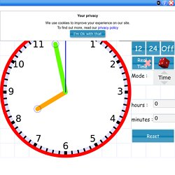 Interactive teaching Clock digital,analogue,telling time & angles