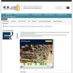 Vidéo interactive en Mercatique sur les relations producteur / distributeur