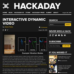Interactive Dynamic Video