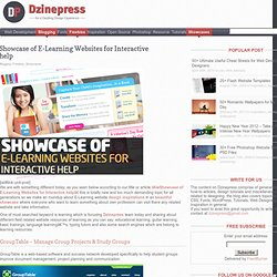 Showcase of E-Learning Websites for Interactive help