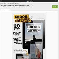 Interactive Ebook that Looks Like an App