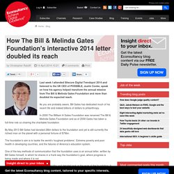 How The Bill & Melinda Gates Foundation's interactive 2014 letter doubled its reach