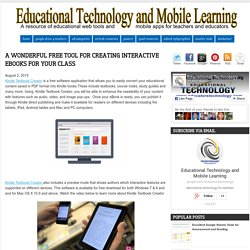 A Wonderful Free Tool for Creating Interactive eBooks for Your Class