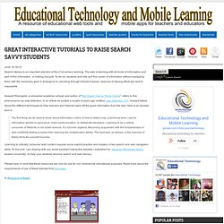 Great Interactive Tutorials to Raise Search Savvy Students