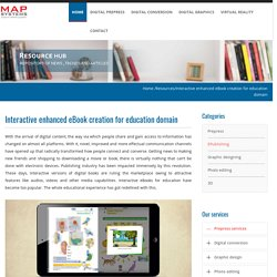 Interactive enhanced eBook creation for education domain