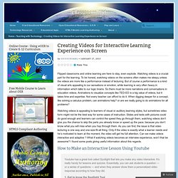 Creating Videos for Interactive Learning