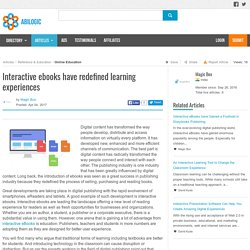 Interactive ebooks have redefined learning experiences