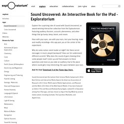 Sound Uncovered: An Interactive Book for the iPad