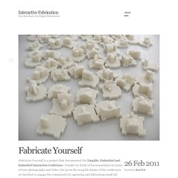 Interactive Fabrication » Fabricate Yourself