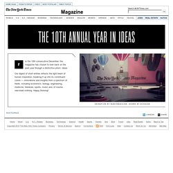 The 10th Annual Year in Ideas - Interactive Feature