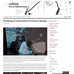 Thinking of Interactive Furniture Design