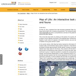 Map of Life: An interactive look at flora and fauna