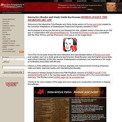 Interactive Folio: Romeo and Juliet