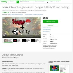 Make interactive games with Fungus & Unity3D - no coding!