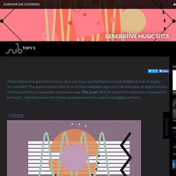 Top 5 Interactive Generative Music sites