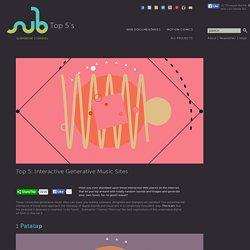 Top 5 Interactive Generative Music sites