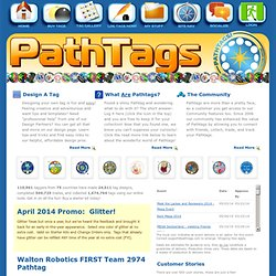 Home - Who have you crossed paths with? The new and exciting interactive trading item. Great for Geocaching, Military, Businesses, Scouting and more!