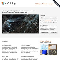 Unfolding - Interactive Map Library for Processing and Java