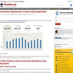 Interactive Dashboard in Excel using Hyperlinks