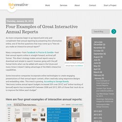 Four Examples of Great Interactive Annual Reports
