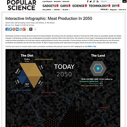Interactive Infographic: Meat Production In 2050