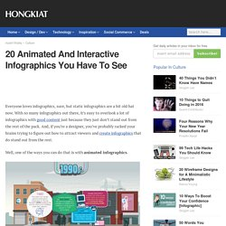 20 Animated And Interactive Infographics You Have To See