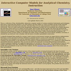 Interactive models for Analytical Chemistry Instruction