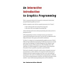 An Interactive Introduction to Graphics Programming