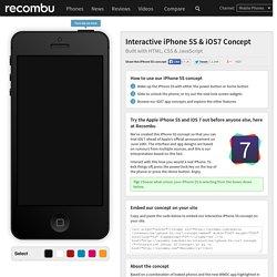 Interactive Apple iPhone 5S & iOS 7 Concept