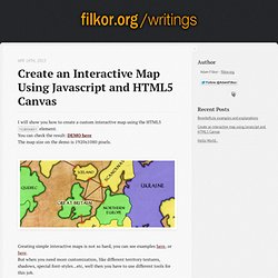 Create an interactive map using Javascript and HTML5 Canvas - filkor.org Writings