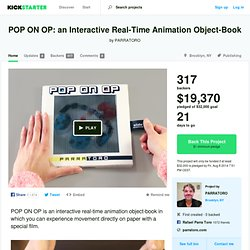 POP ON OP: an Interactive Real-Time Animation Object-Book by PARRATORO