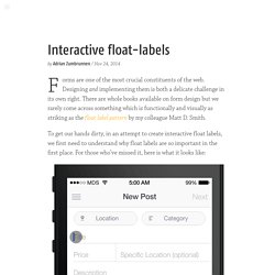 Interactive float-labels — Adrian Zumbrunnen