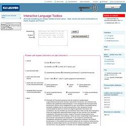 Interactive Language Toolbox