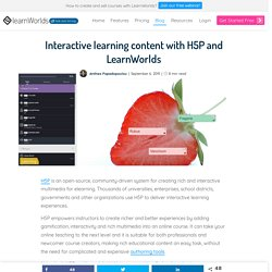 Interactive learning content with H5P and LearnWorlds