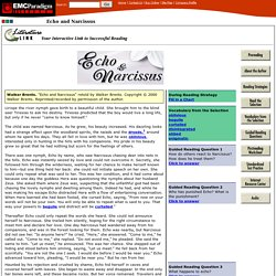Interactive Literature Selections Echo and Narcissus