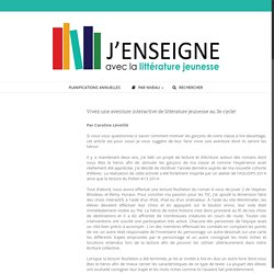 Vivez une aventure interactive de littérature jeunesse au 3e cycle! – J'enseigne avec la littérature jeunesse