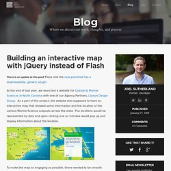Building an interactive map with jQuery instead of Flash - New M