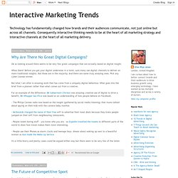 Interactive Marketing Trends
