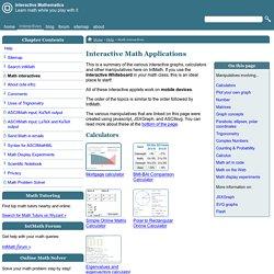 Interactive Math Applications