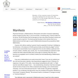 Manifesto. Interactive Mathematics Miscellany and Puzzles