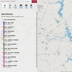 METRO Interactive Service Map (New Bus Network) - Metropolitan Transit Authority of Harris County