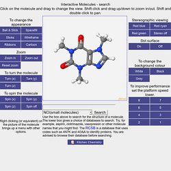 Interactive Molecules - search
