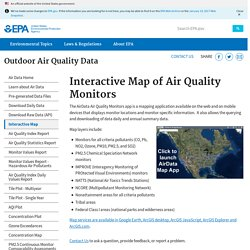 Air Data: Air Quality Data Collected at Outdoor Monitors Across the US