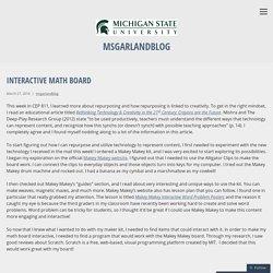 Interactive Math Board – msgarlandblog