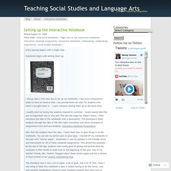Teaching Social Studies and Language Arts
