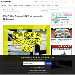File Folder Bookmark DIY for Interactive Notebooks