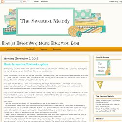 Music Interactive Notebooks, update