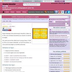 Cahiers d'exercices numériques en anglais