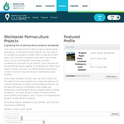 the interactive map and database of the Worldwide Permaculture Network