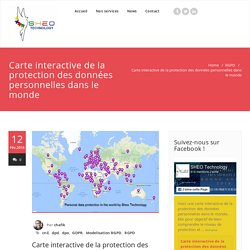 Carte interactive de la protection des données personnelles dans le monde